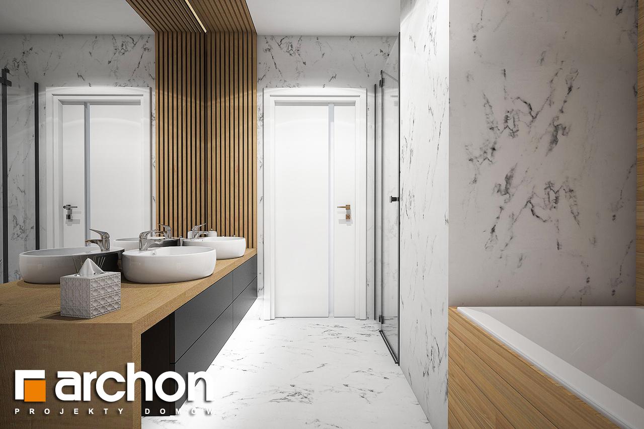 Проект будинку ARCHON+ Будинок в купині 2 (Г2) візуалізація ванни (візуалізація 3 від 2)