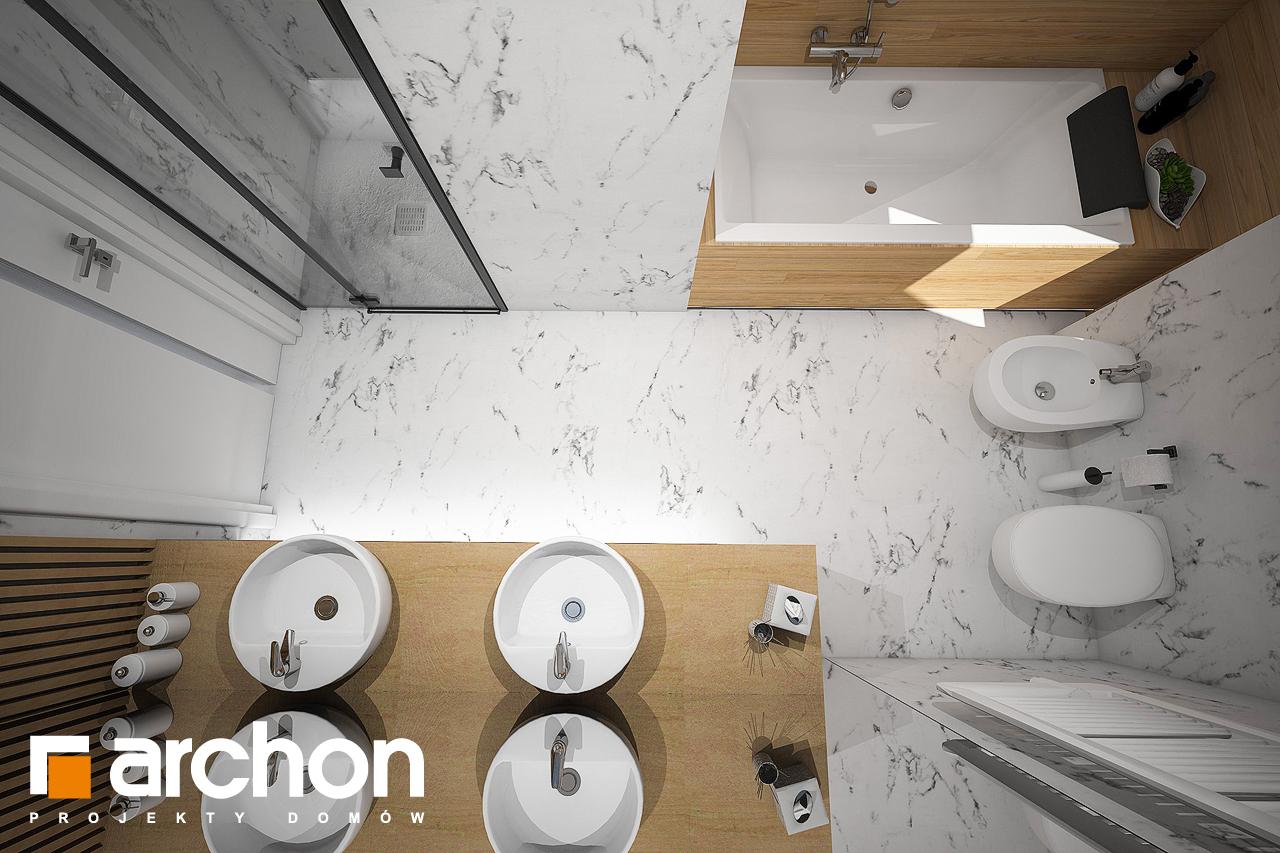 Проект будинку ARCHON+ Будинок в купині 2 (Г2) візуалізація ванни (візуалізація 3 від 4)