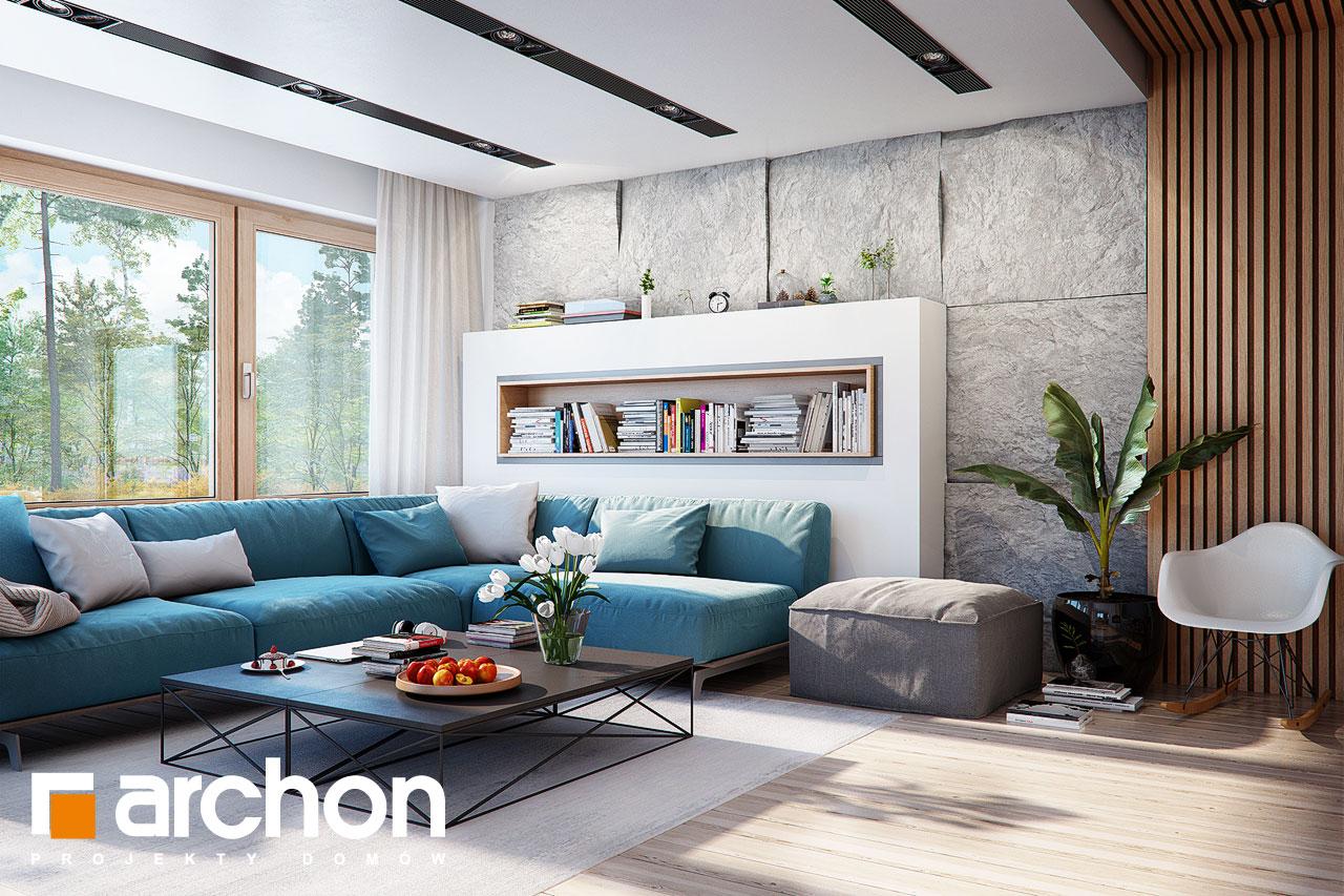 Проект будинку ARCHON+ Будинок в купині 2 (Г2) денна зона (візуалізація 1 від 1)