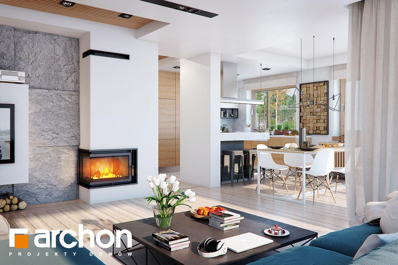 Проект будинку ARCHON+ Будинок в купині 2 (Г2) денна зона (візуалізація 1 від 2)