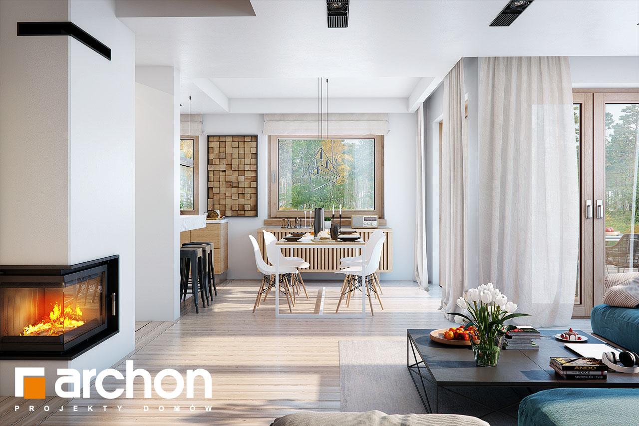 Проект будинку ARCHON+ Будинок в купині 2 (Г2) денна зона (візуалізація 1 від 3)