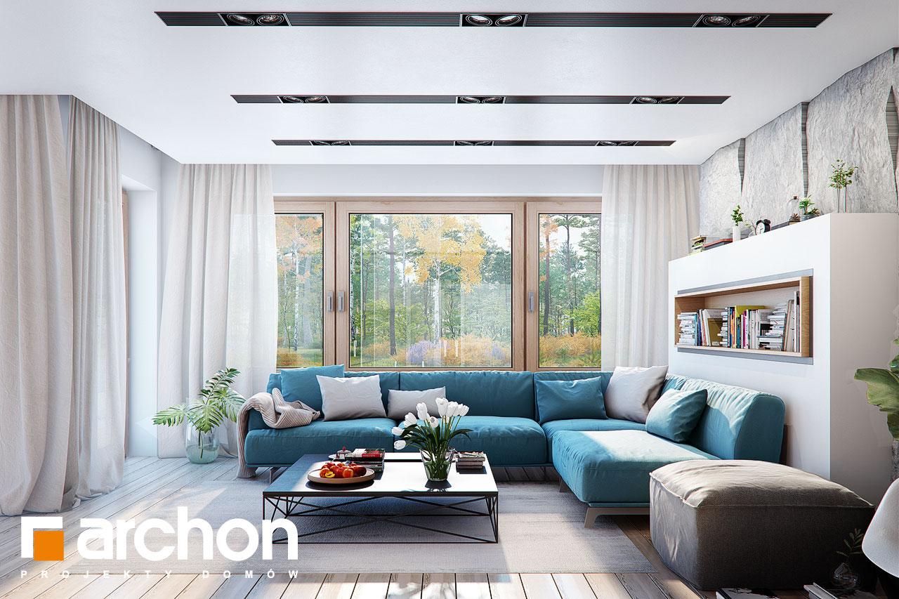 Проект будинку ARCHON+ Будинок в купині 2 (Г2) денна зона (візуалізація 1 від 4)