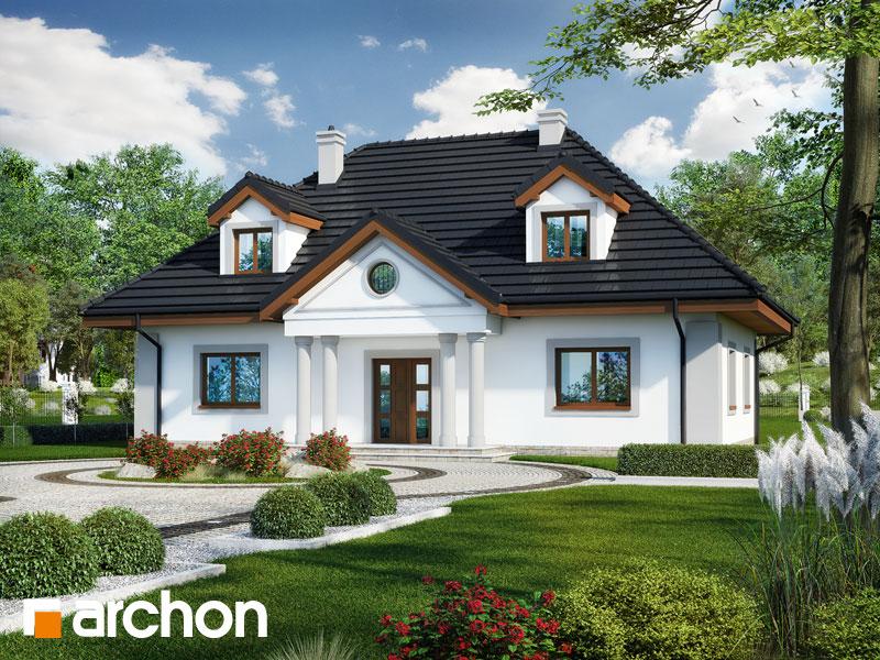 Проект будинку ARCHON+ Будинок в айстрах вер.2 Вид 1