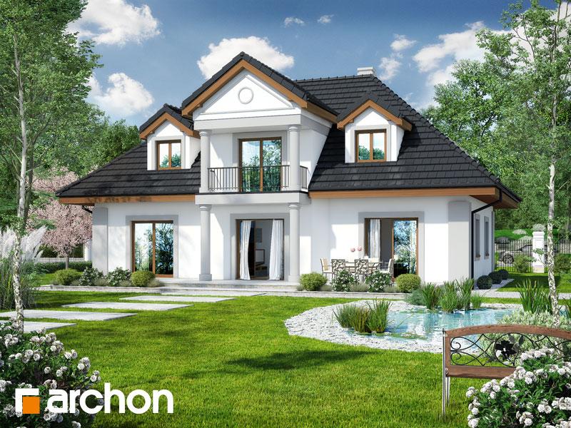 Проект будинку ARCHON+ Будинок в айстрах вер.2 Вид 2