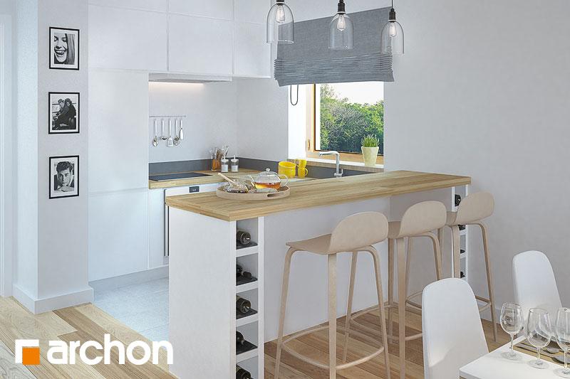 Проект будинку ARCHON+ Будинок в сон-траві (А) візуалізація кухні 1 від 1