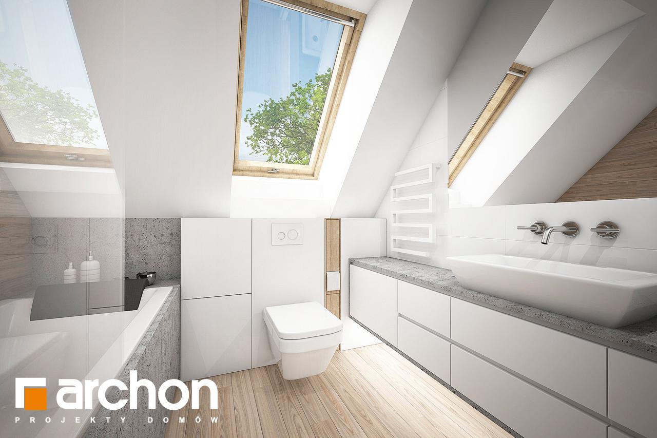 Проект будинку ARCHON+ Будинок в сон-траві (А) візуалізація ванни (візуалізація 3 від 2)
