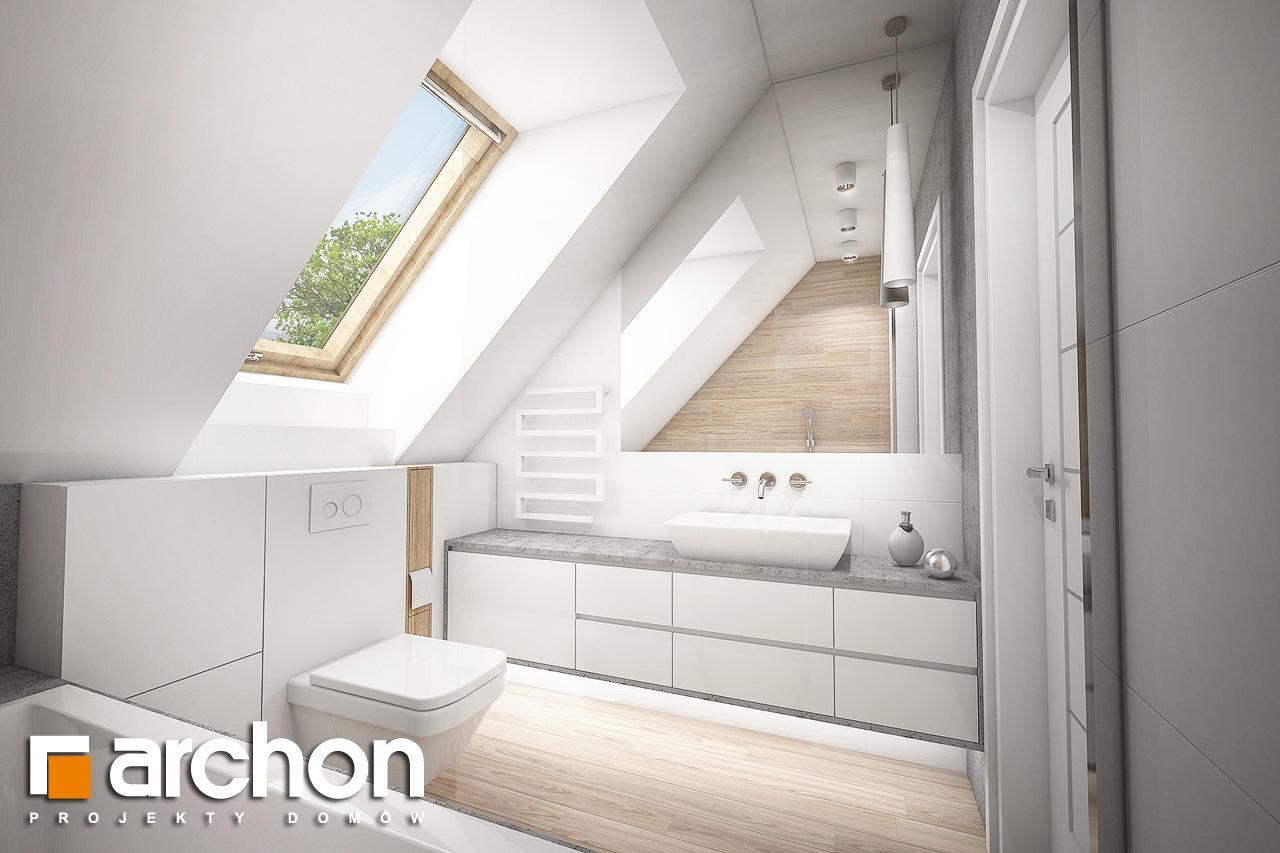 Проект будинку ARCHON+ Будинок в сон-траві (А) візуалізація ванни (візуалізація 3 від 3)