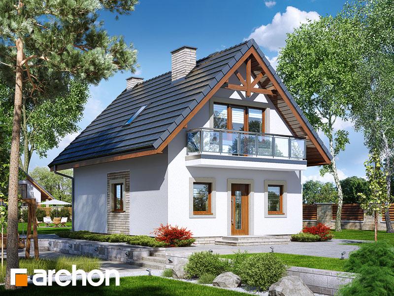 Проект будинку ARCHON+ Будинок в сон-траві (А) Вид 1