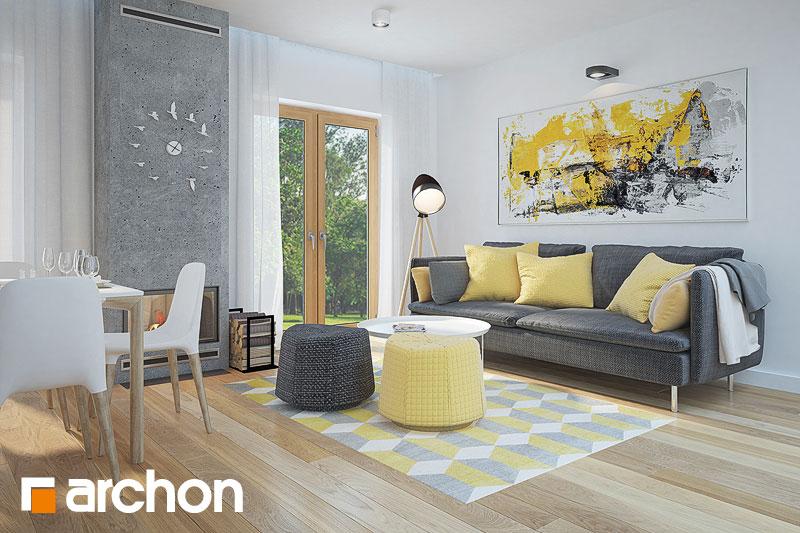 Проект будинку ARCHON+ Будинок в сон-траві (А) денна зона (візуалізація 1 від 2)