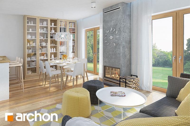 Проект будинку ARCHON+ Будинок в сон-траві (А) денна зона (візуалізація 1 від 4)