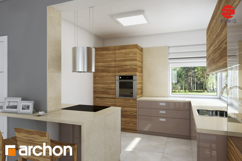 Проект будинку ARCHON+ Будинок в руколі (H) візуалізація кухні 1 від 1