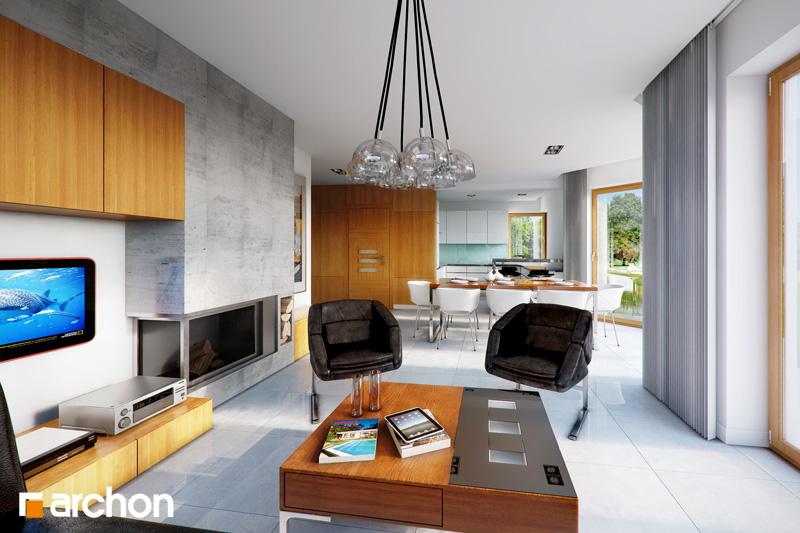 Проект будинку ARCHON+ Будинок в руколі (H) денна зона (візуалізація 1 від 1)