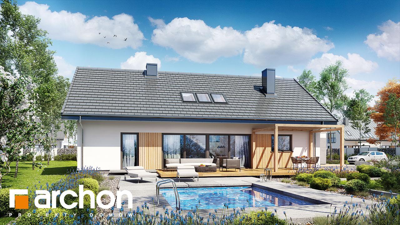 Проект будинку ARCHON+ Будинок в бетуліях стилізація 3