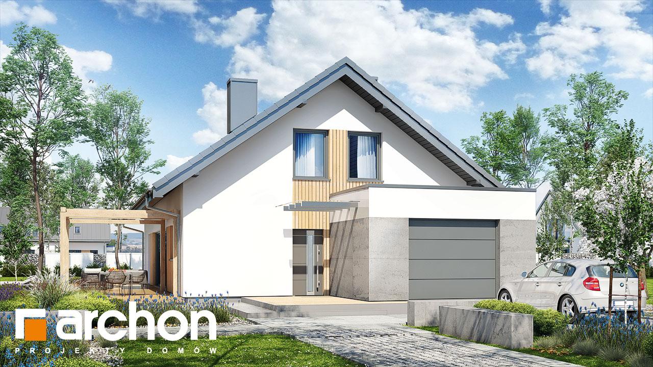 Проект будинку ARCHON+ Будинок в бетуліях стилізація 4