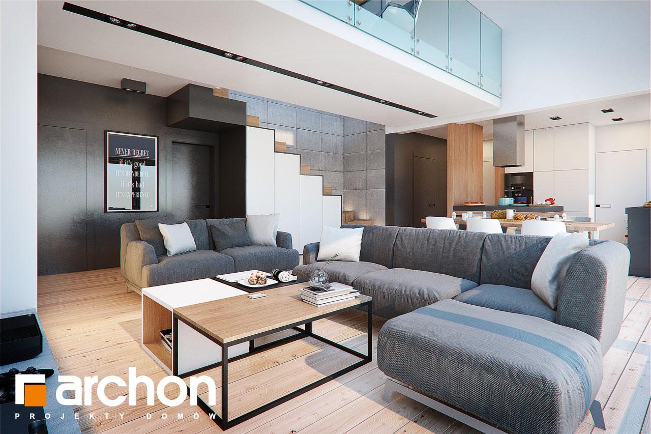Проект будинку ARCHON+ Будинок в бетуліях денна зона (візуалізація 1 від 1)