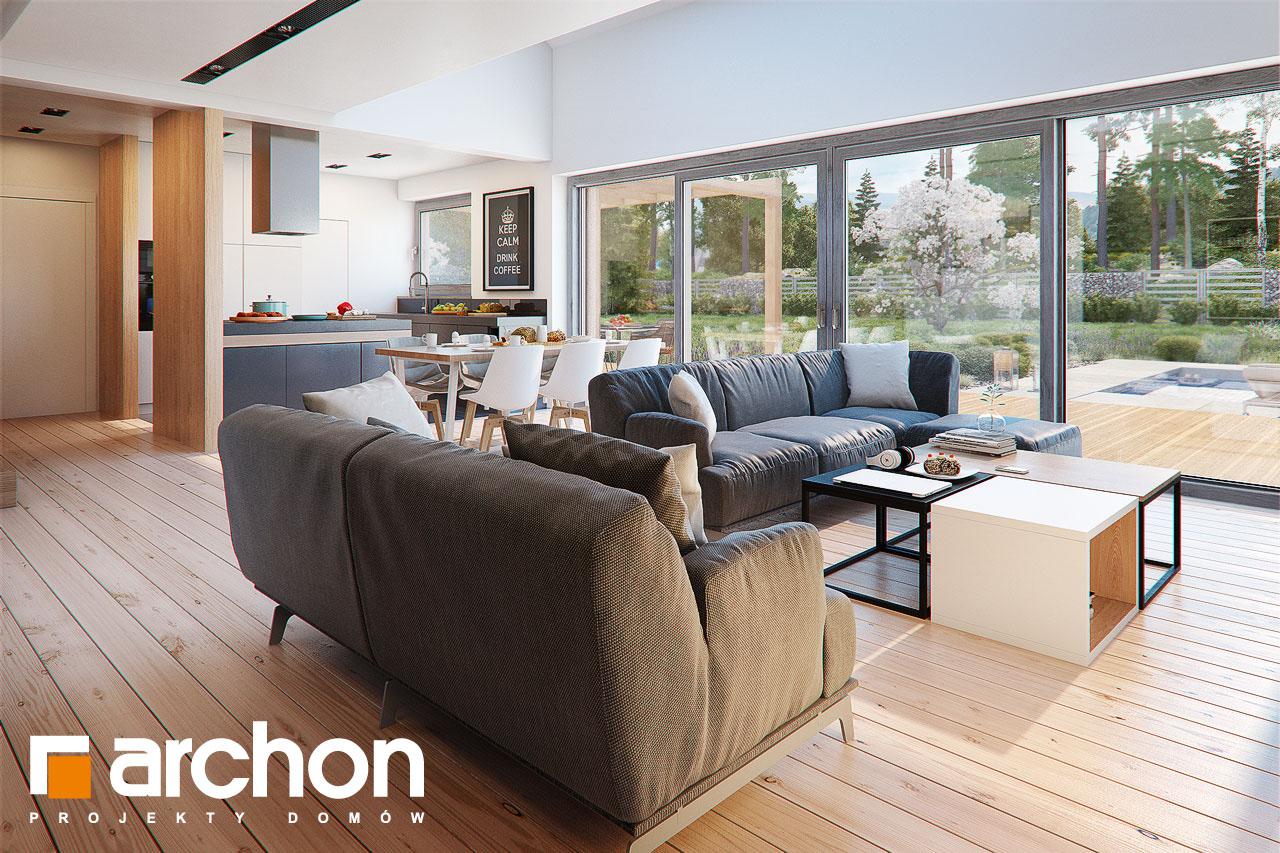 Проект будинку ARCHON+ Будинок в бетуліях денна зона (візуалізація 1 від 5)