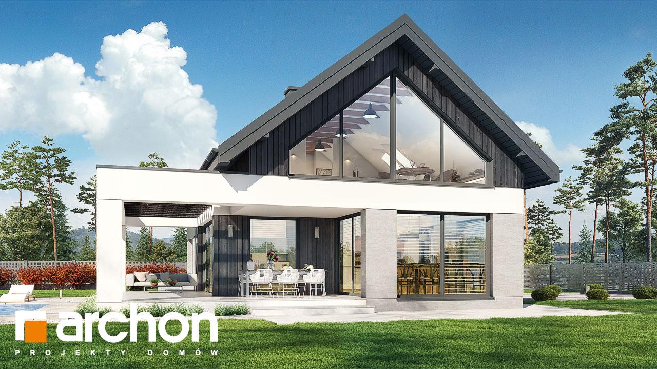 Проект будинку ARCHON+ Будинок в дабеціях (М) додаткова візуалізація