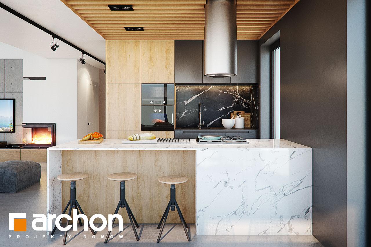 Проект будинку ARCHON+ Будинок в дабеціях (М) візуалізація кухні 1 від 1