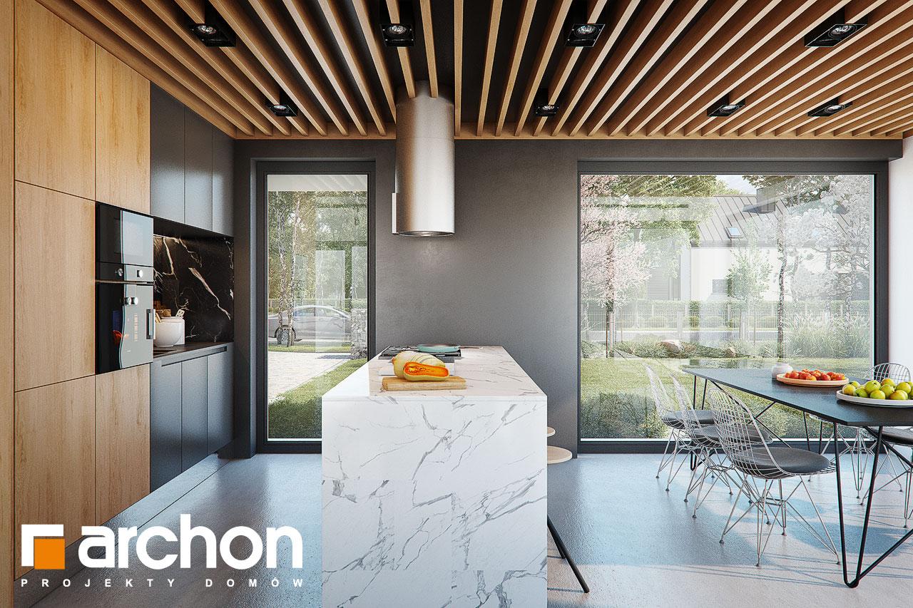 Проект будинку ARCHON+ Будинок в дабеціях (М) візуалізація кухні 1 від 2