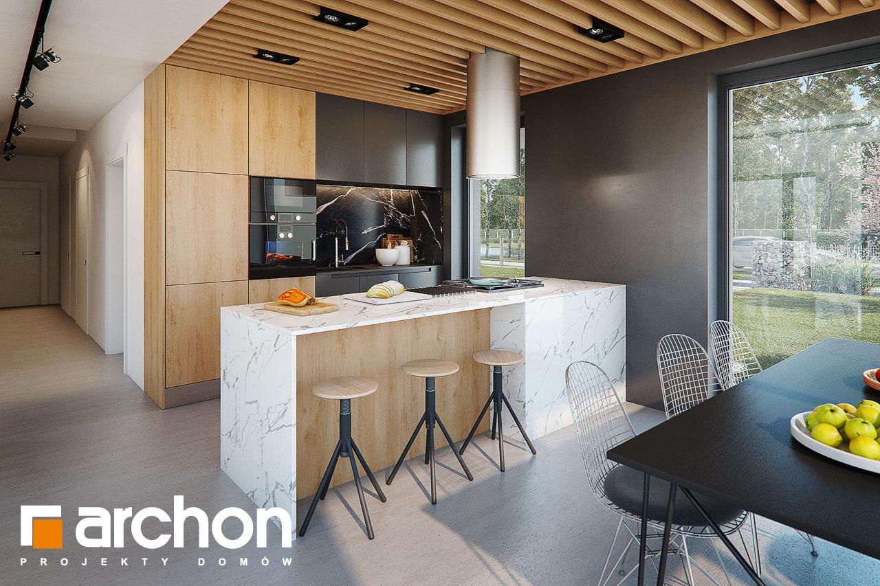 Проект будинку ARCHON+ Будинок в дабеціях (М) візуалізація кухні 1 від 3