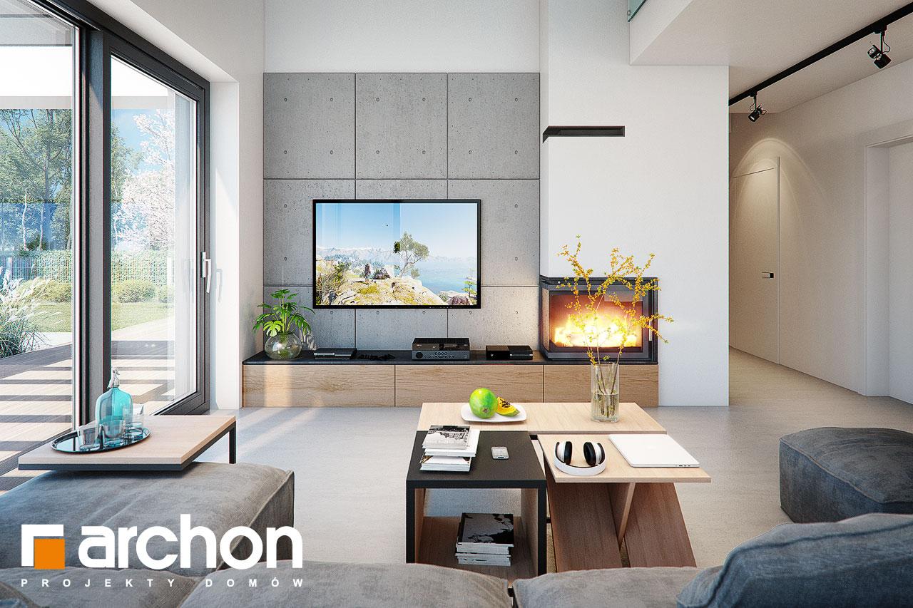 Проект будинку ARCHON+ Будинок в дабеціях (М) денна зона (візуалізація 1 від 2)