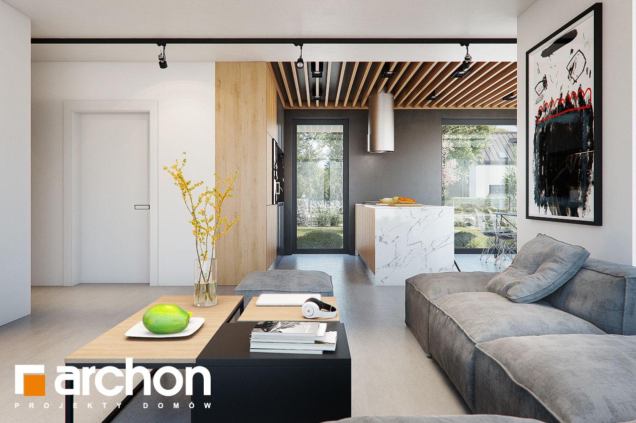 Проект будинку ARCHON+ Будинок в дабеціях (М) денна зона (візуалізація 1 від 3)