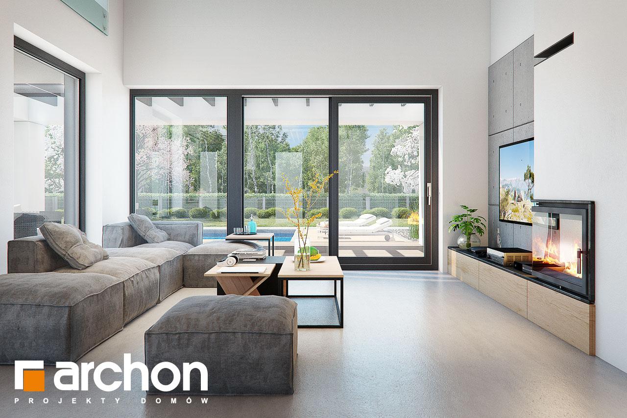 Проект будинку ARCHON+ Будинок в дабеціях (М) денна зона (візуалізація 1 від 4)