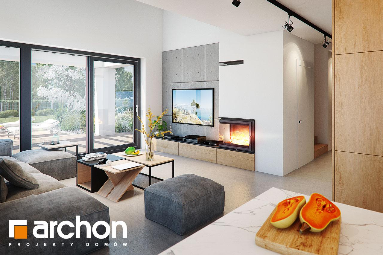 Проект будинку ARCHON+ Будинок в дабеціях (М) денна зона (візуалізація 1 від 6)