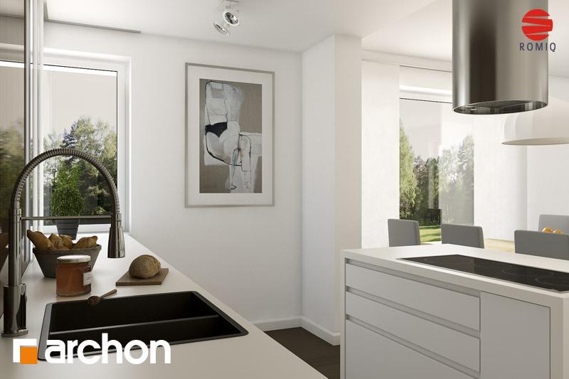 Проект будинку ARCHON+ Будинок в гейджею (Г2А) візуалізація кухні 2 від 1