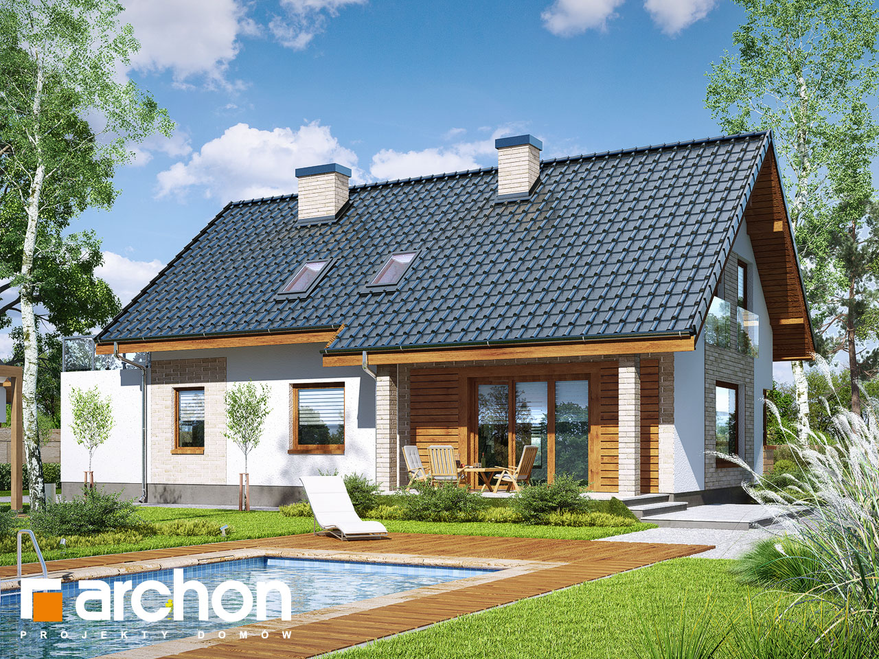 Проект будинку ARCHON+ Будинок в гейджею (Г2А) Вид 2