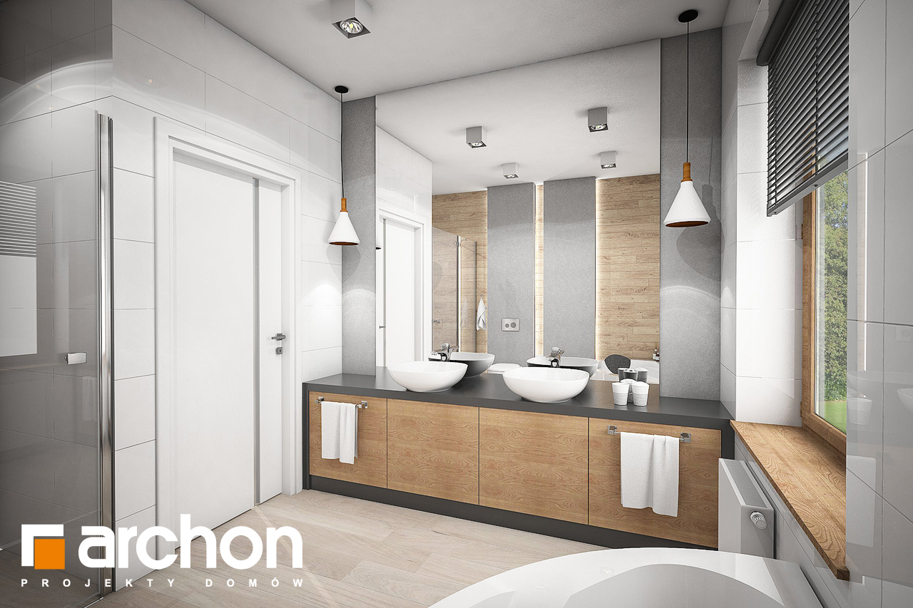 Проект будинку ARCHON+ Будинок в андромедах 2 (Г2А) візуалізація ванни (візуалізація 3 від 1)