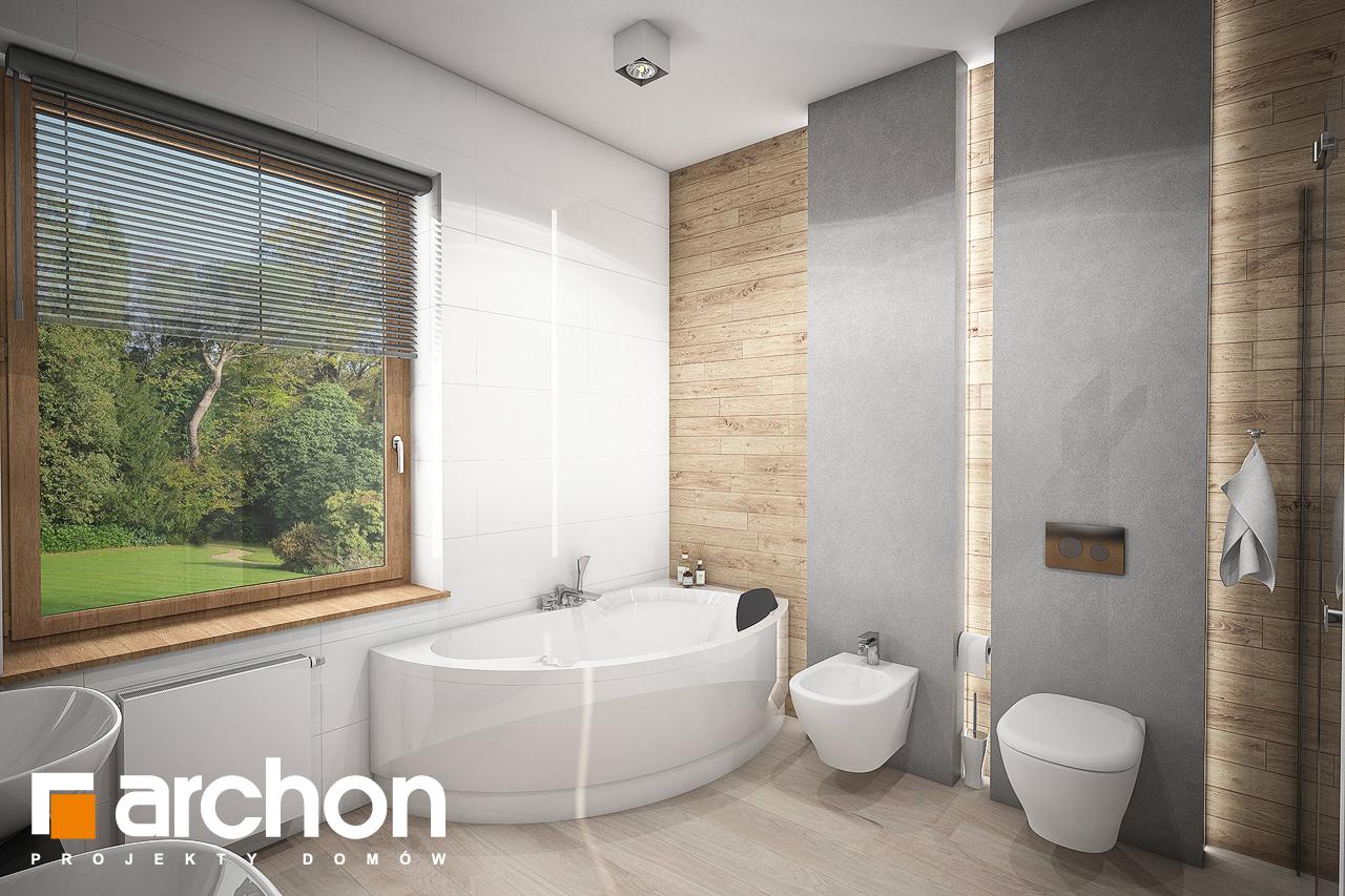 Проект будинку ARCHON+ Будинок в андромедах 2 (Г2А) візуалізація ванни (візуалізація 3 від 2)