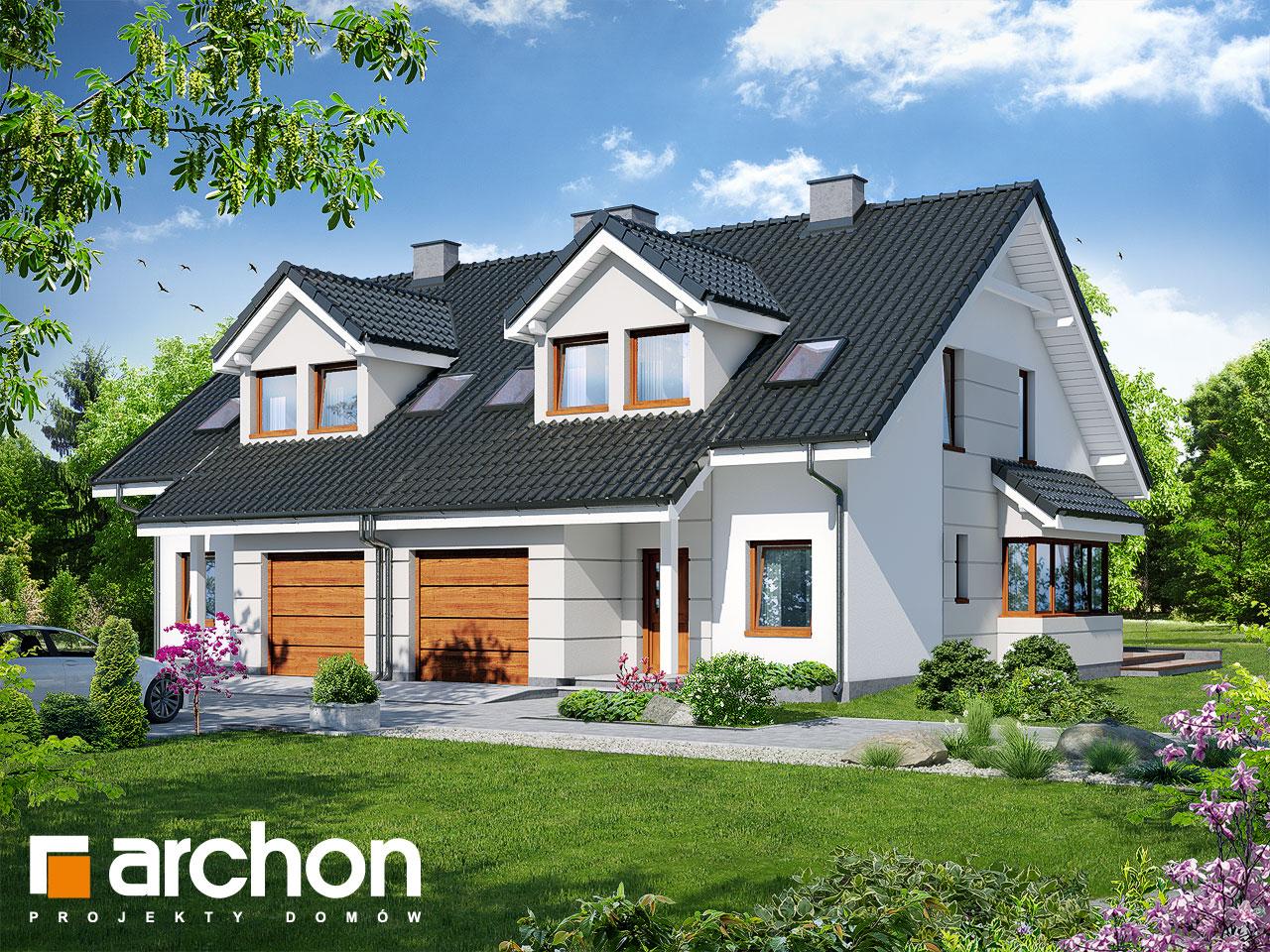 Проект будинку ARCHON+ Будинок в клематисах 7 (Б) вер.3 візуалізація усіх сегментів