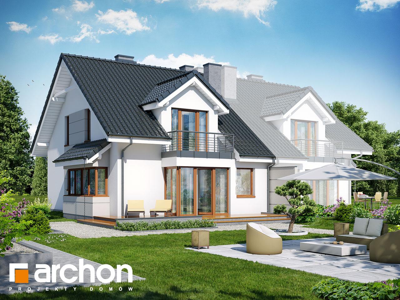 Проект будинку ARCHON+ Будинок в клематисах 7 (Б) ver.3 Вид 2