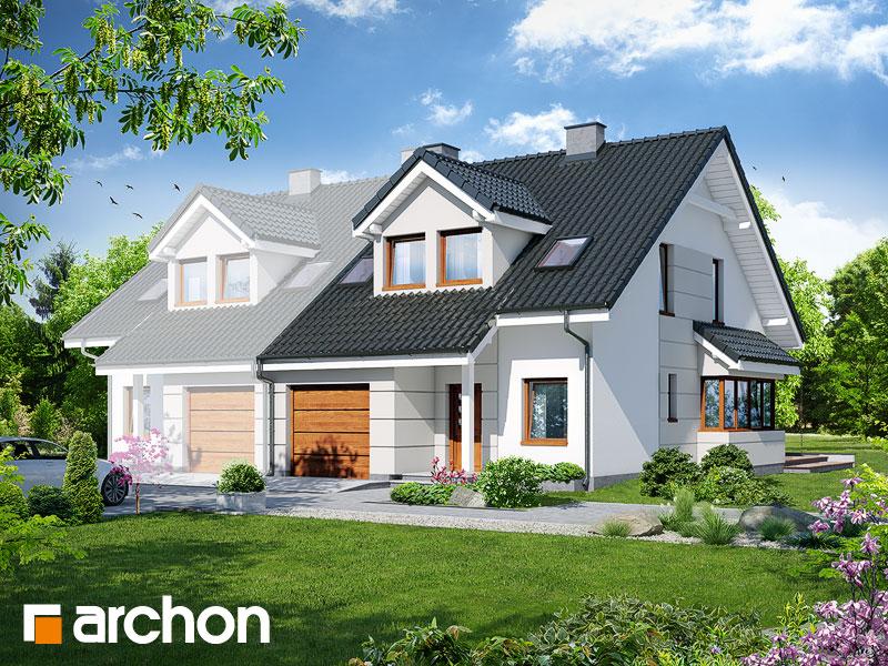 Проект будинку ARCHON+ Будинок в клематисах 7 (Б) ver.3 Вид 1