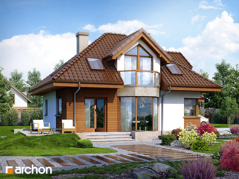 Проект будинку ARCHON+ Будинок в руколі (П) стилізація 4