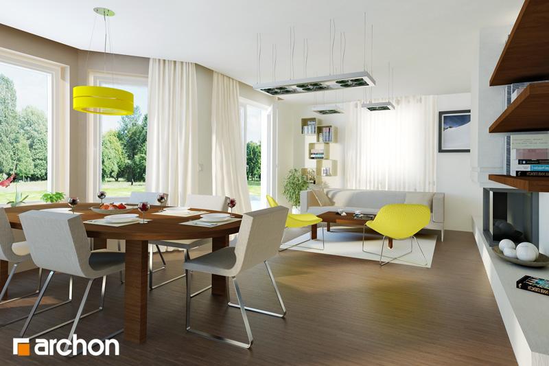Проект будинку ARCHON+ Будинок в руколі (П) денна зона (візуалізація 1 від 1)