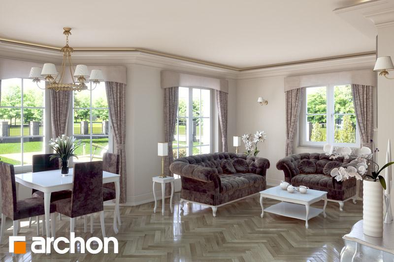 Проект будинку ARCHON+ Будинок в руколі (П) денна зона (візуалізація 2 від 1)