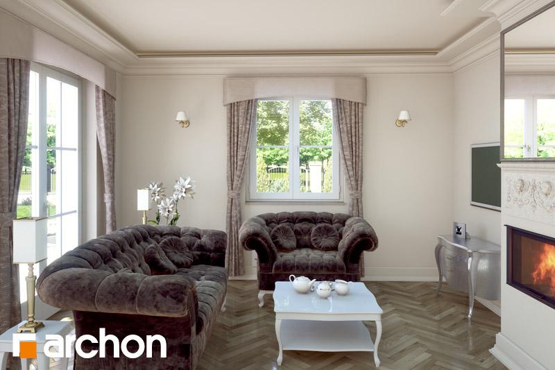 Проект будинку ARCHON+ Будинок в руколі (П) денна зона (візуалізація 2 від 2)