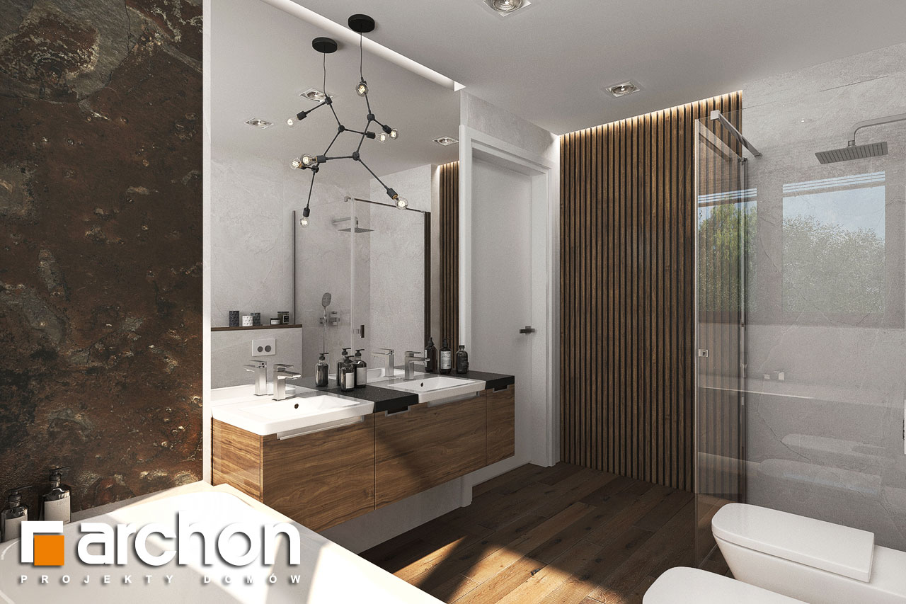 Проект будинку ARCHON+ Вілла Міранда 6 (Г2) візуалізація ванни (візуалізація 3 від 3)