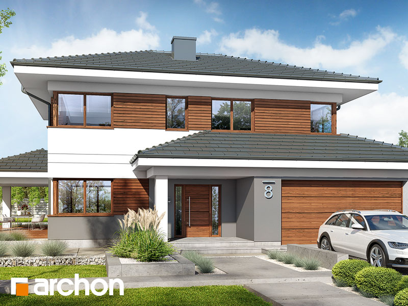 Проект дома ARCHON+ Вилла Миранда 6 (Г2) Вид 1