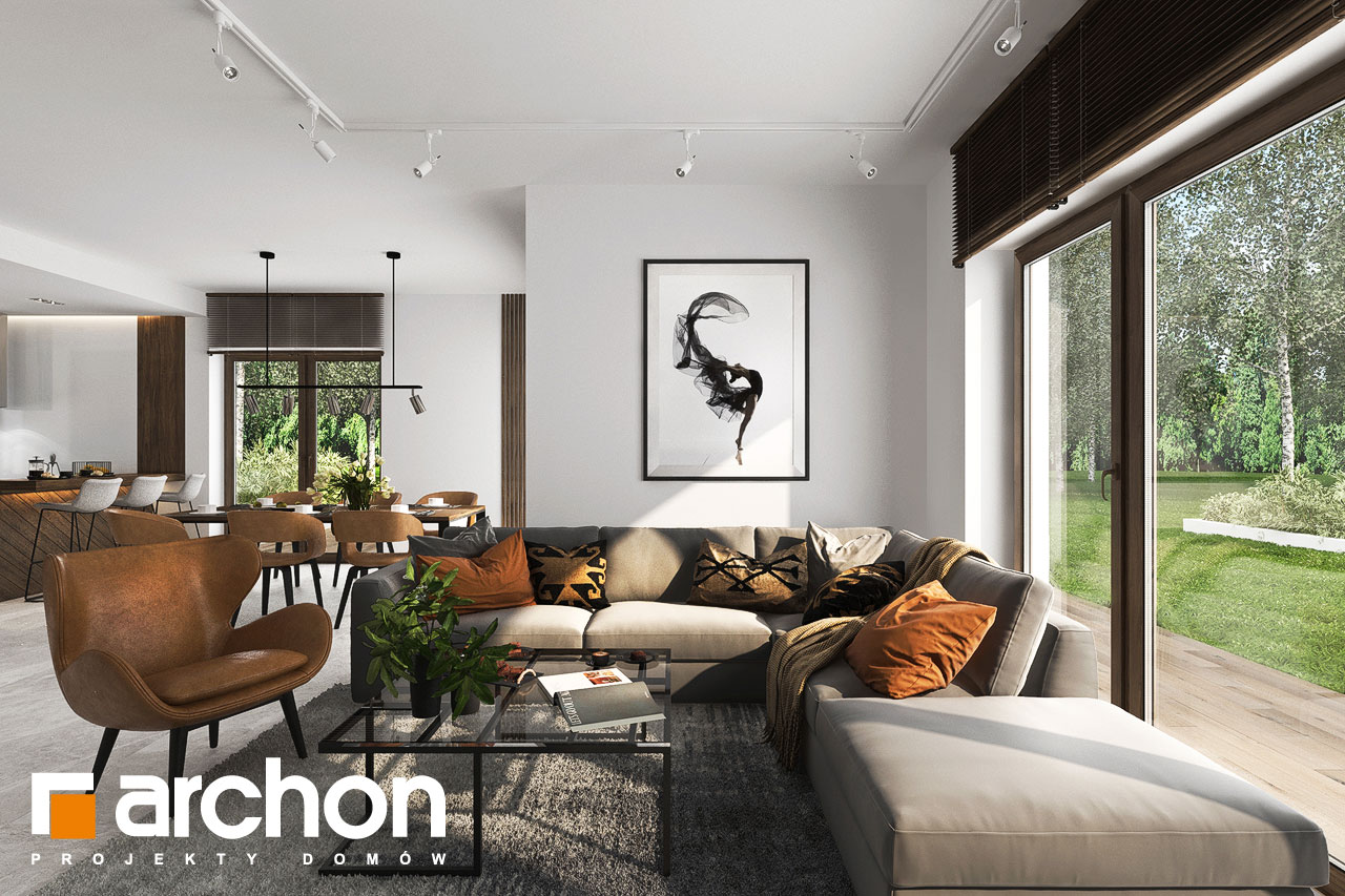 Проект будинку ARCHON+ Вілла Міранда 6 (Г2) денна зона (візуалізація 1 від 3)