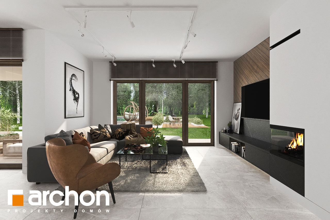 Проект будинку ARCHON+ Вілла Міранда 6 (Г2) денна зона (візуалізація 1 від 4)