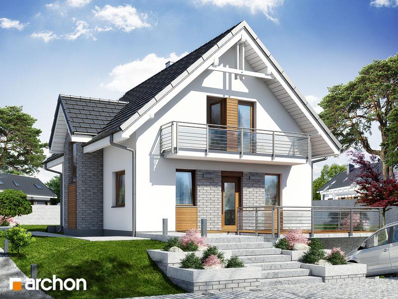 Проект будинку ARCHON+ Будинок в рокітнику стилізація 3