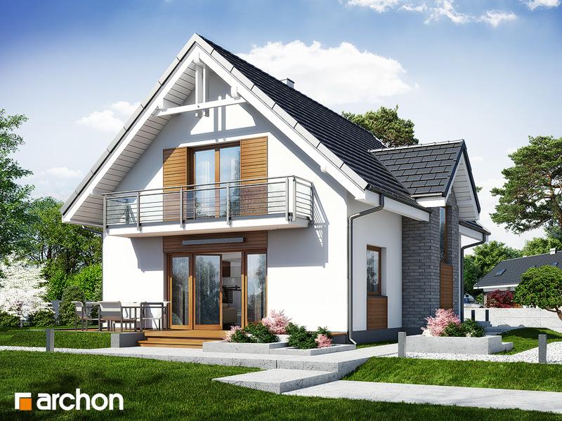 Проект будинку ARCHON+ Будинок в рокітнику стилізація 4