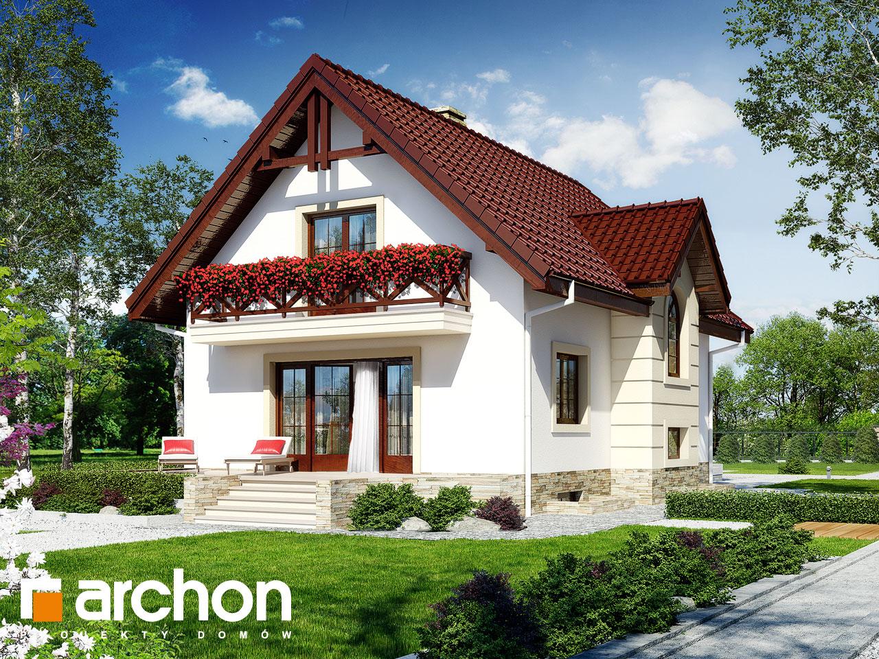 Проект будинку ARCHON+ Будинок в рокітнику Вид 2