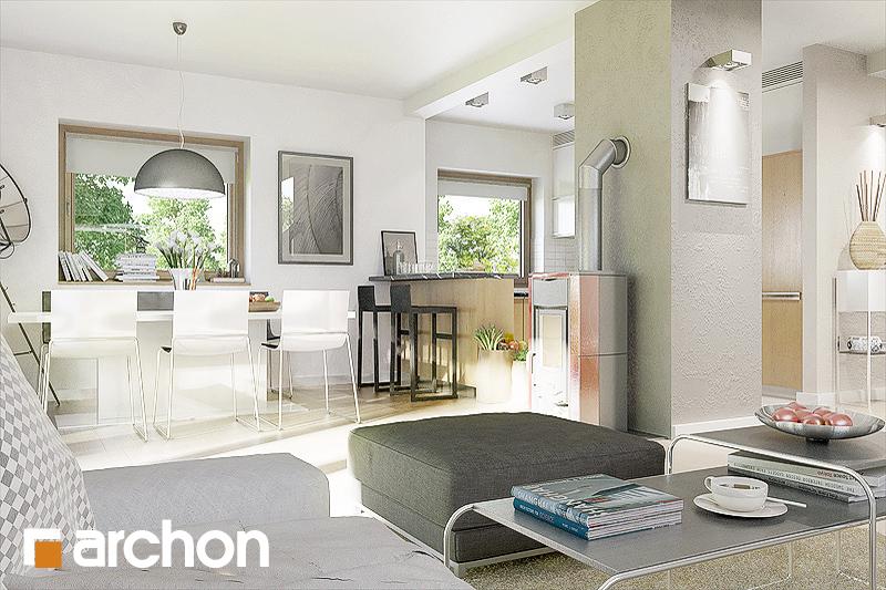 Проект будинку ARCHON+ Будинок в рокітнику денна зона (візуалізація 1 від 1)