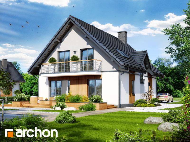Проект будинку ARCHON+ Будинок під калиною вep. 2 вер.2 стилізація 4