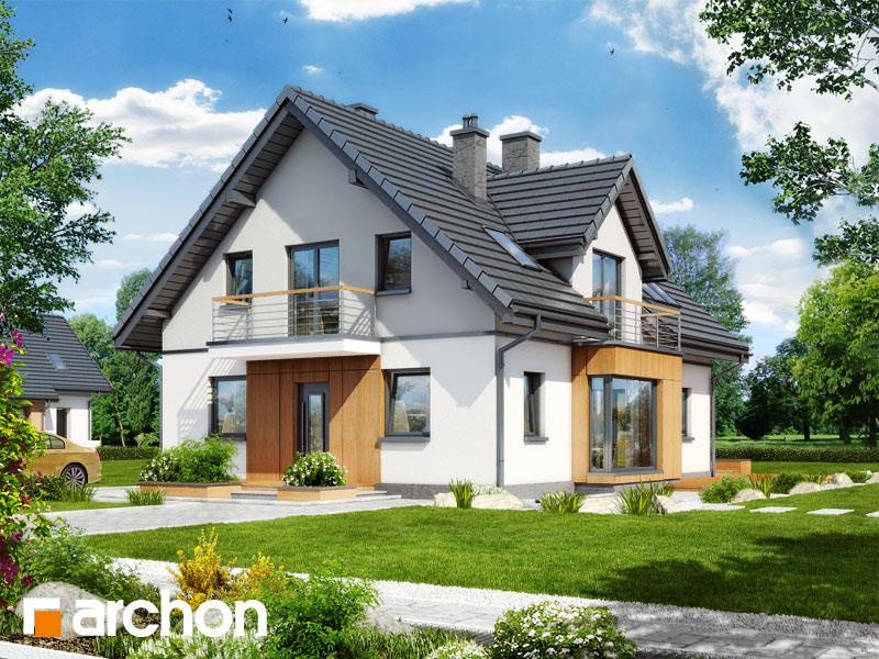 Проект дома ARCHON+ Дом под калиной ver.2 стилизация 3