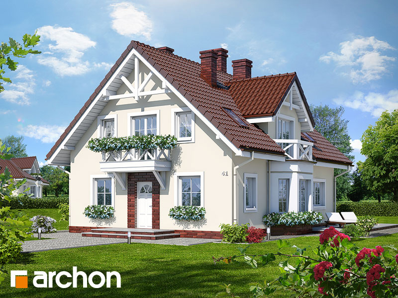 Проект дома ARCHON+ Дом под калиной ver.2 Вид 1